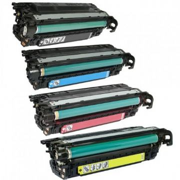 HP 647A 648A B/C/M/Y Refurbished Toner Value Pack)